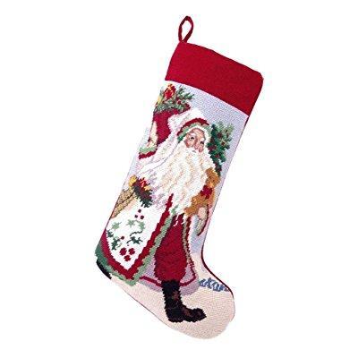 Peking lynn haney gathering holly santa needlepoint chris...