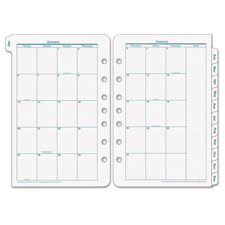 Monthly Planner Refill - FranklinCovey Original Dated Monthly Planner Refill, January-December, 5 1/2 x 8 1/2, 2018