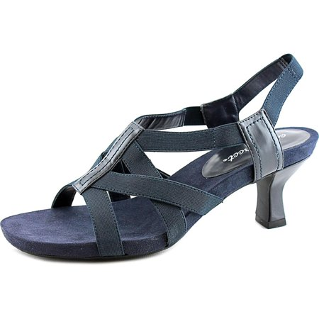 608ec78e2770 Easy Street Abby Women W Open-Toe Canvas Blue Slingback Sandal Image 1 of 5