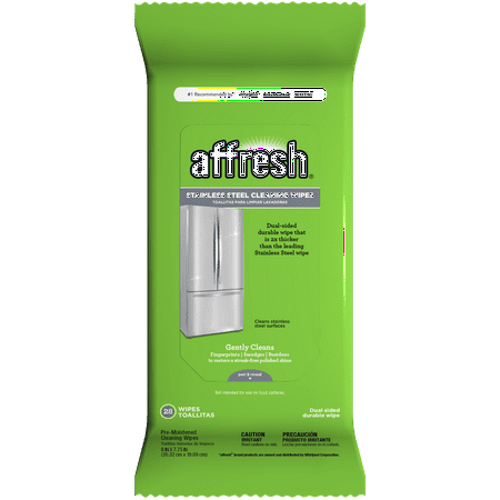 (2 pack) affresh Stainless Steel Wipes 28ct