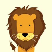 Secretly Designed Lion Paper Print