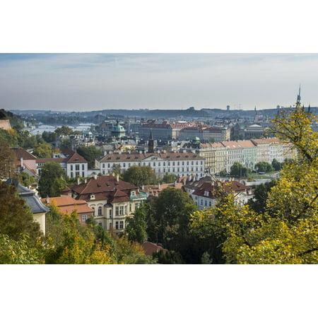 View over Prague from Prague Castle, Prague, Czech Republic, Europe Print Wall Art By Michael Runkel