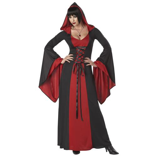Sexy Deluxe Hooded Robe Gothic Costume Medium Size 8-10
