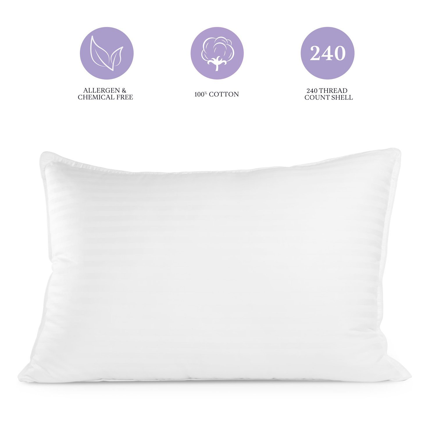 Pur-Dream Sleep Cool Gel Pillow with Hypoallergenic Cooling Gel Fiber Goose Down Alternative for Home and Hotel