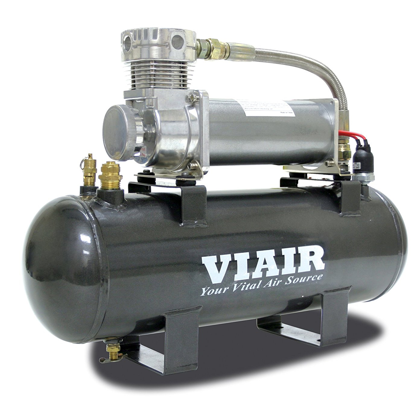 VIAIR 200 PSI 2.0 Gal Tank High-Flow-200 Air Source Kit