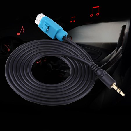 EECOO Audio AUX Input Cable Fullspeed To Mini Jack Adapter For Alpine CDA CDE IVA,AUX Input Cable,Adapter For Alpine