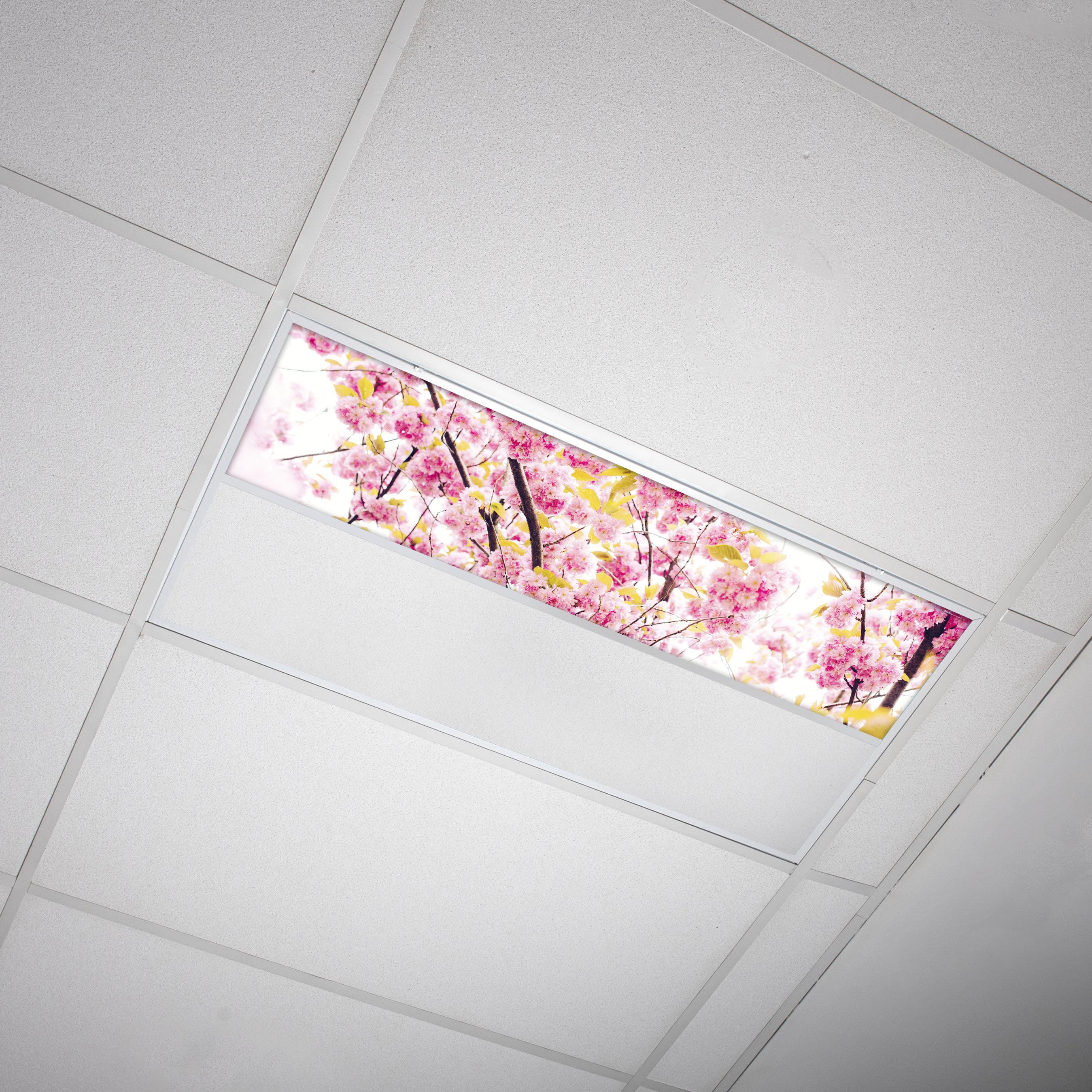 Octo Lights Fluorescent Light Covers 1x4 Flexible Decorative Light Diffuser Panels Flower For Classrooms And Offices Flower 006 Walmart Com Walmart Com