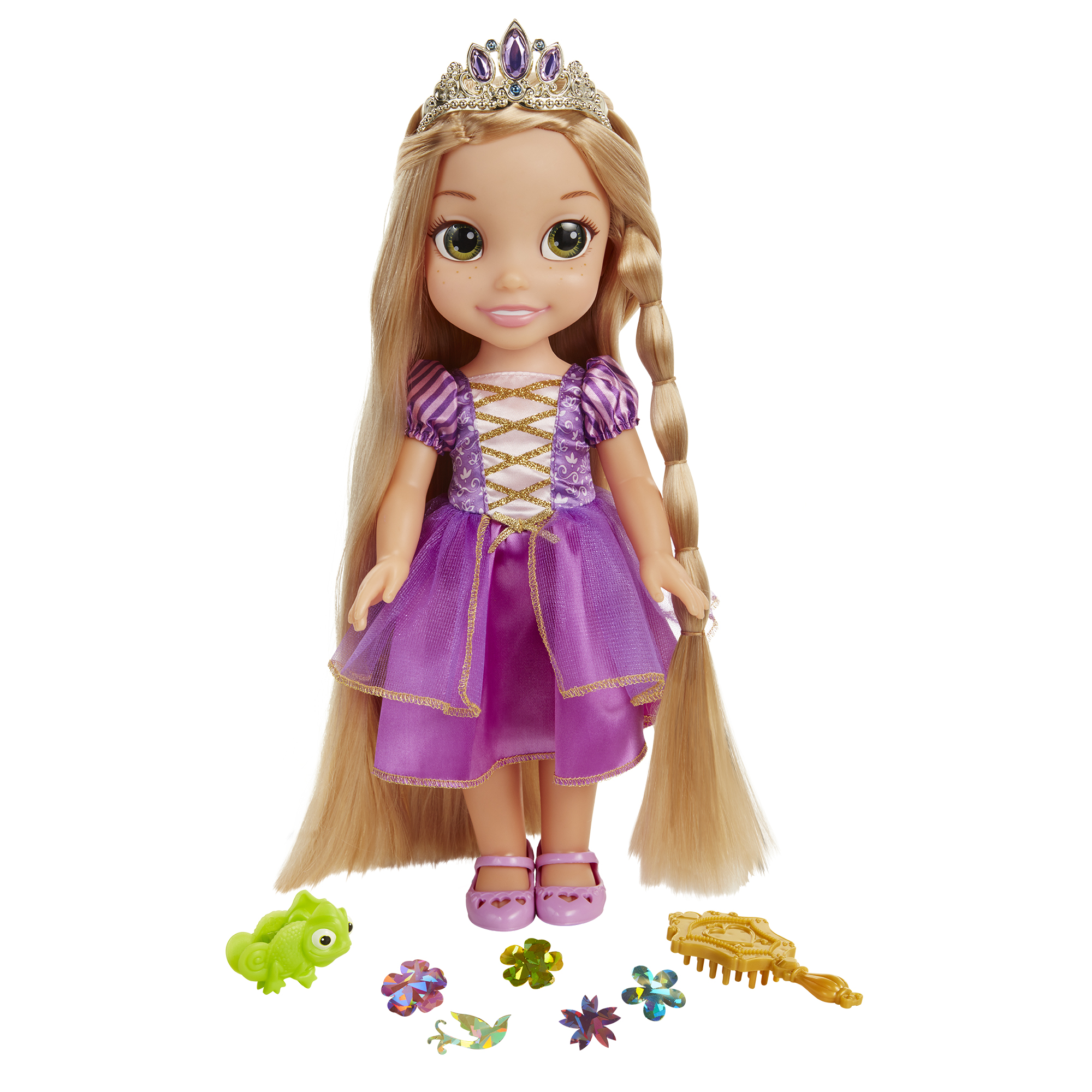 "Disney Princess Glow N Style Rapunzel 14"" Feature Doll"