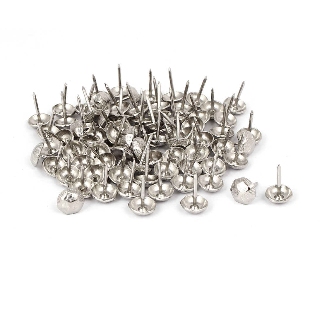 "7/16"" Dia Stainless Steel Drawing Pin Upholstery Nail Thumb Tack Pushpin 80PCS"