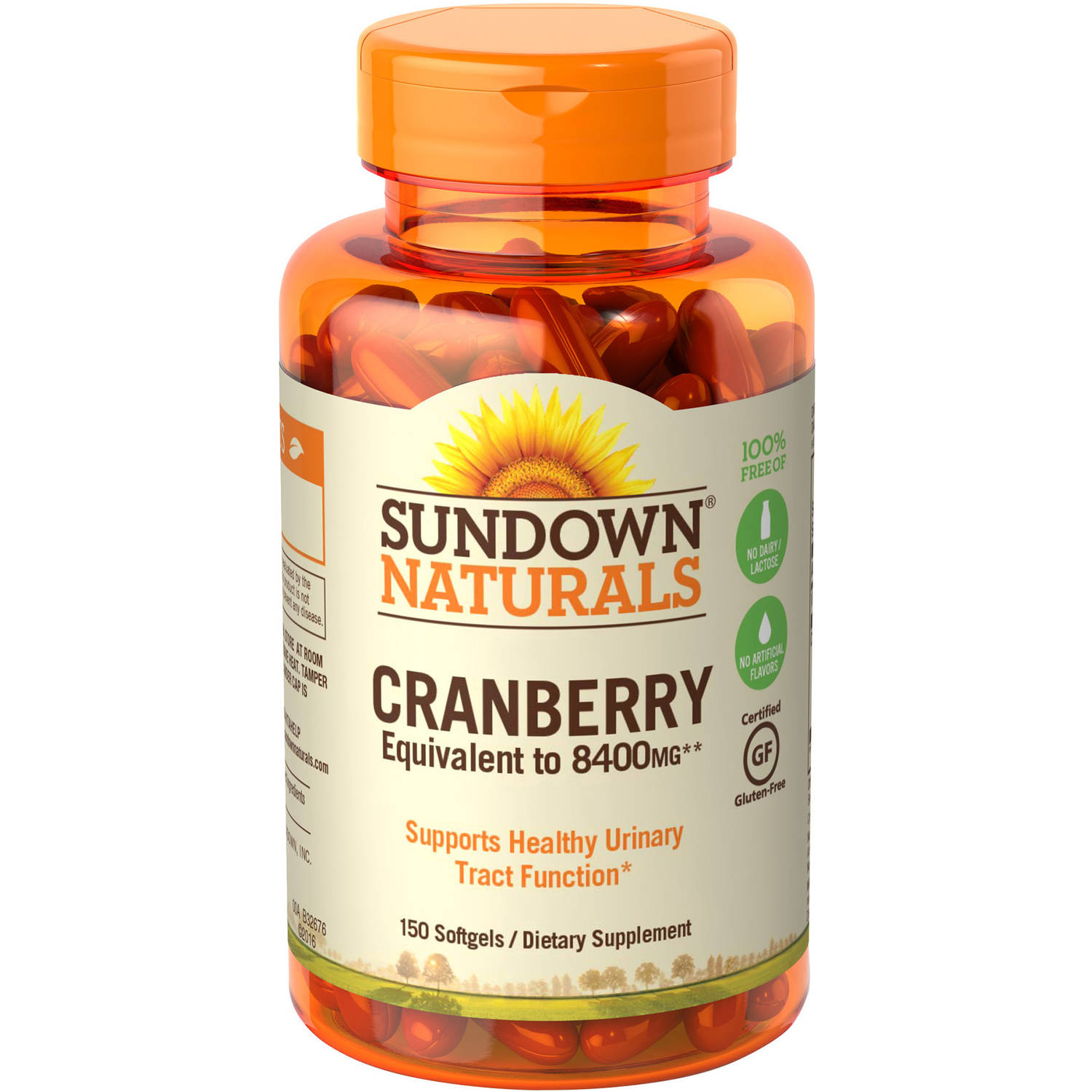 Sundown Naturals Super Cranberry Plus Vitamin D3 Herbal Supplement Softgels, 150 count