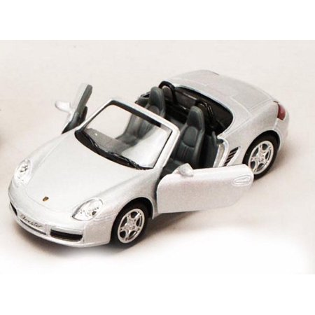 Porsche Boxster S Convertible, Silver - Kinsmart 5302D - 1/34 scale Diecast Model Toy Car (Brand New, but NOT IN BOX)