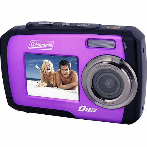 Coleman Purple Duo 2V7WP Waterproof Digital Camera with 14 Megapixels and 3x Digital Zoom