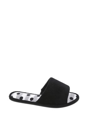DF by Dearfoams Women's Terry One Band Slipper