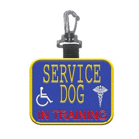 """Service Dog- In Training"" Identification Patch Tag"