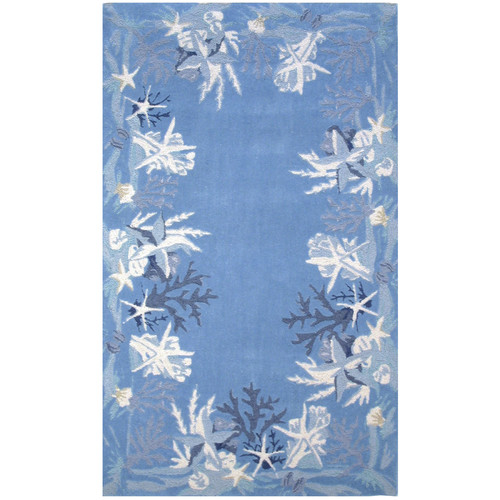 Homefires Sea Star Blue Rug