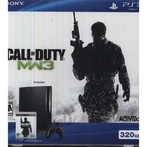 Sony PlayStation 3 - Game console - Full HD, 1080i, HD, 480p, 480i - 320 GB HDD - charcoal black - Call of Duty: Modern Warfare 3