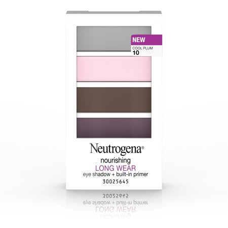 Neutrogena Nourishing Long Wear Eye Shadow + Built-In Primer, 10 Cool Plum, .24 Oz