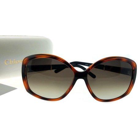 Sunglasses Brown Lens Tortoise Frame - Chloe CE663S-219-58 Butterfly Women's Tortoise Frame Brown Lens Sunglasses NWT