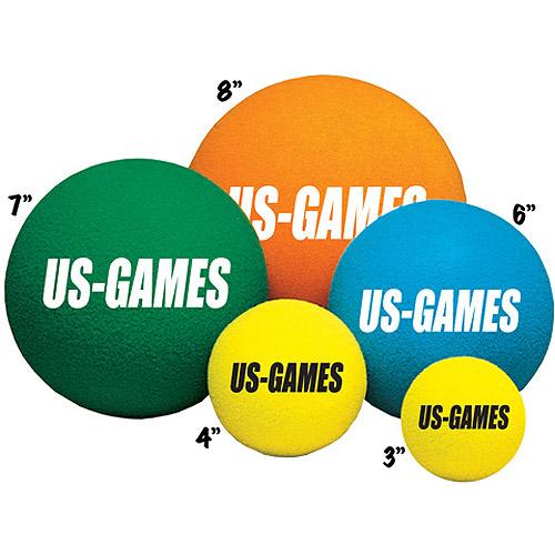 "US-Games Uncoated Economy Foam Balls, 4"""
