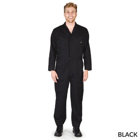 NATURAL UNIFORMS MENS LONG SLEEVE WORK COVERALLS- FREE SHIPPING- MANY COLORS AND SIZES (Mens Work Uniforms)
