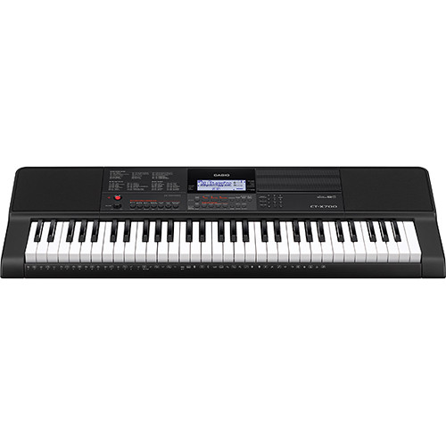 Casio CT-X700 61-Key Touch Sensitive Portable Keyboard with Power Supply