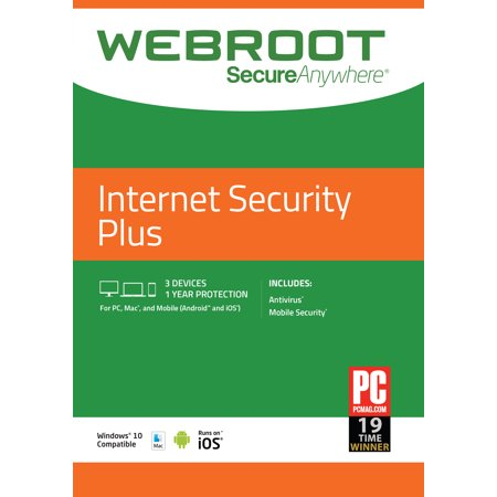 Webroot Internet Security Plus + Antivirus (Best Performing Antivirus 2019)