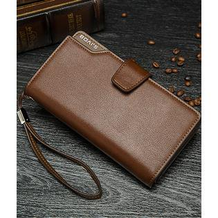 43885ba143 Men's 3 folds High Quality Large Section Wallet Brown