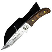 Joy Enterprises FP74407 Fury Mustang Wildlife Collector's Series Fixed Blade Knife with Nylon Sheath, Black Bear, 8""