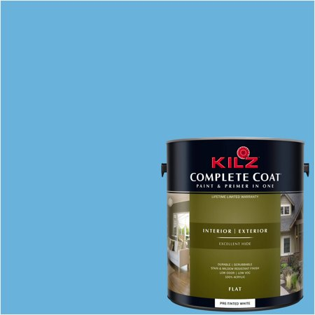 KILZ COMPLETE COAT Interior/Exterior Paint & Primer in One #RD240-01 Azure Pool