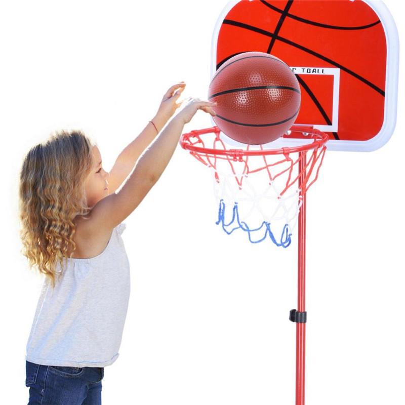 WALFRONT Adjustable Basketball Stand System Hoop Backboard Net Kit for Children, Basketball Hoop Board, Adjustable... by