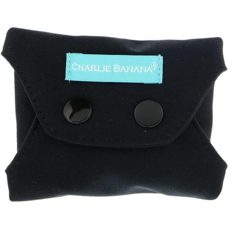 - Charlie Banana  Panty Liners  Black  3 Liners   1 Tote Bag