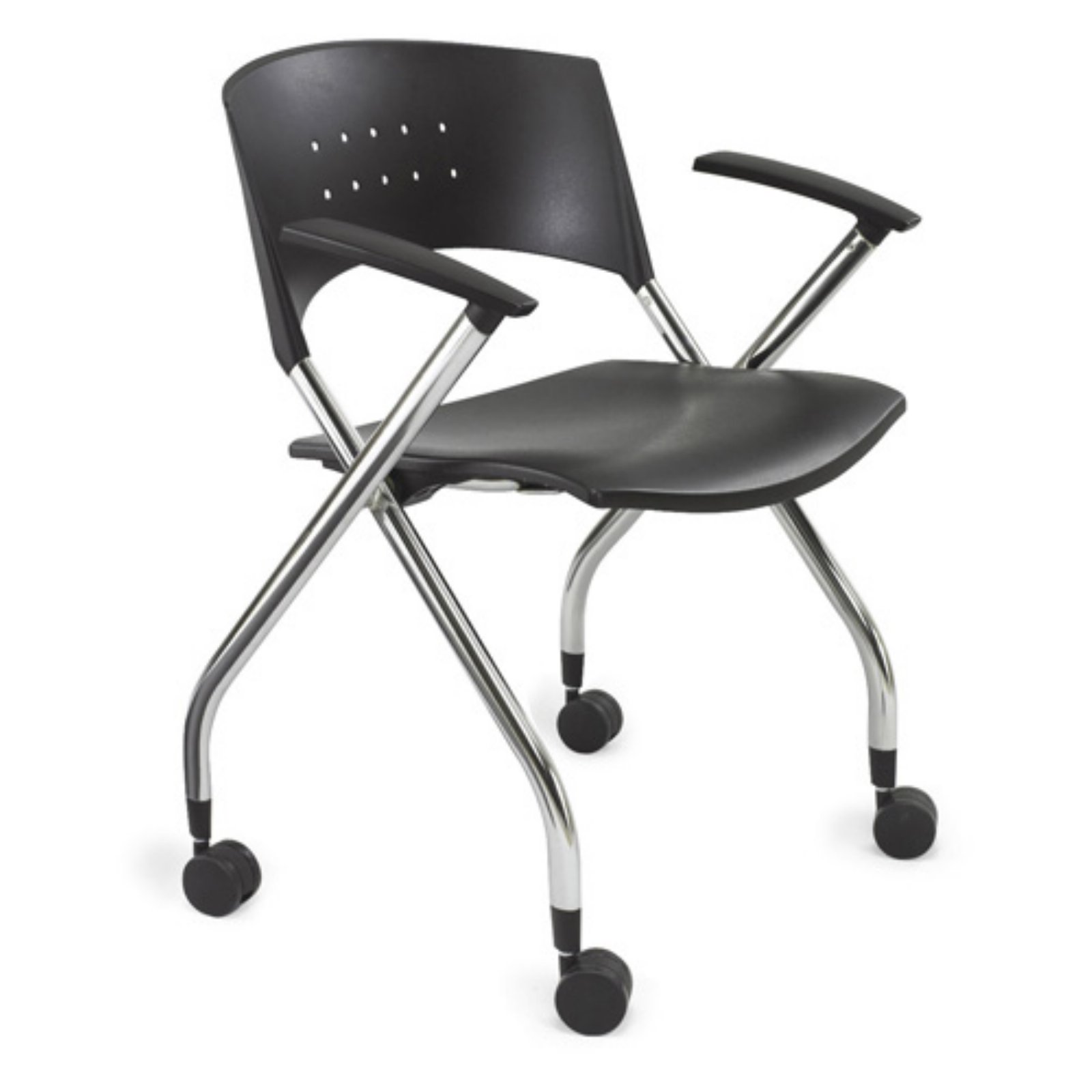 Safco 3480BL Xtc. Nesting Chair - Black - Set of 2