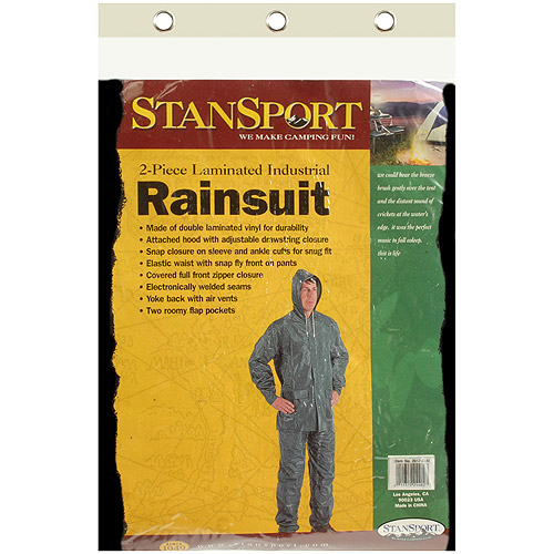 Stansport PVC Rainsuit, Green