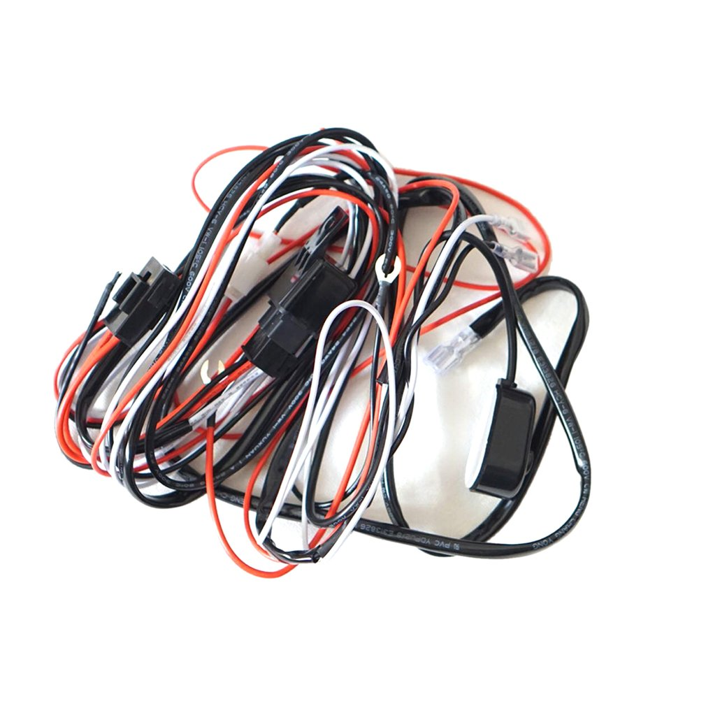 Led Hid Driving Wiring Harness Kit Fog Work Light Wire Set With Relay Switch Walmart