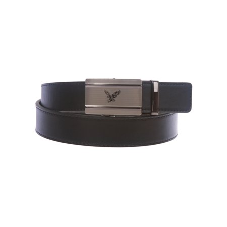 Eagle Design Belt Buckle (Men's Plain Leather Slide Ratchet Dress Belt with Eagle Design Automatic)