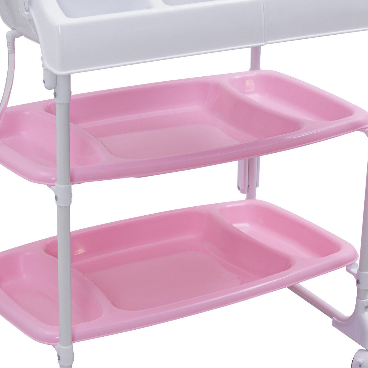 Costway Baby Infant Changing Table Diaper Station Organizer Storage w/ Tube - image 8 de 10