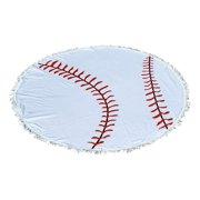 101 BEACH Round Beach Towel Blanket - Baseball