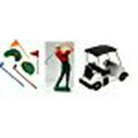 A1BakerySupplies Cake Decorating Kit CupCake Decorating Kit Sports Toys (Golf Kit with Cart)