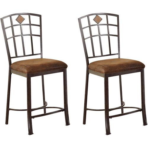 Acme Paraiba Counter Chair, Set of 2, Saddle