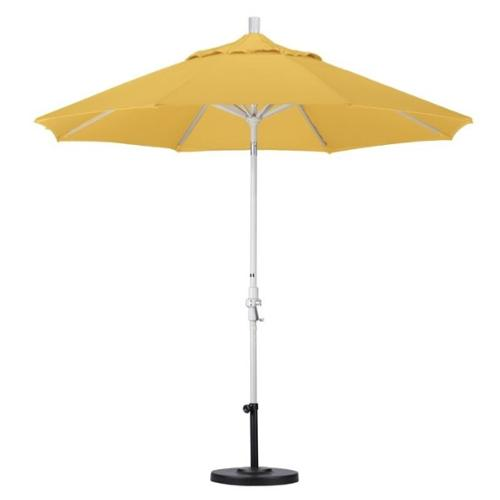 California Umbrella 9' Market Patio Umbrella in Yellow