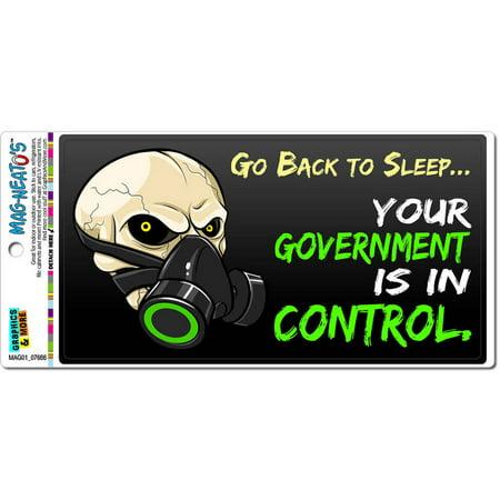 Go Back To Sleep Government In Control Anti Obama New World Order Anarchy Gas Mask Automotive Car Refrigerator Locker Vinyl Magnet