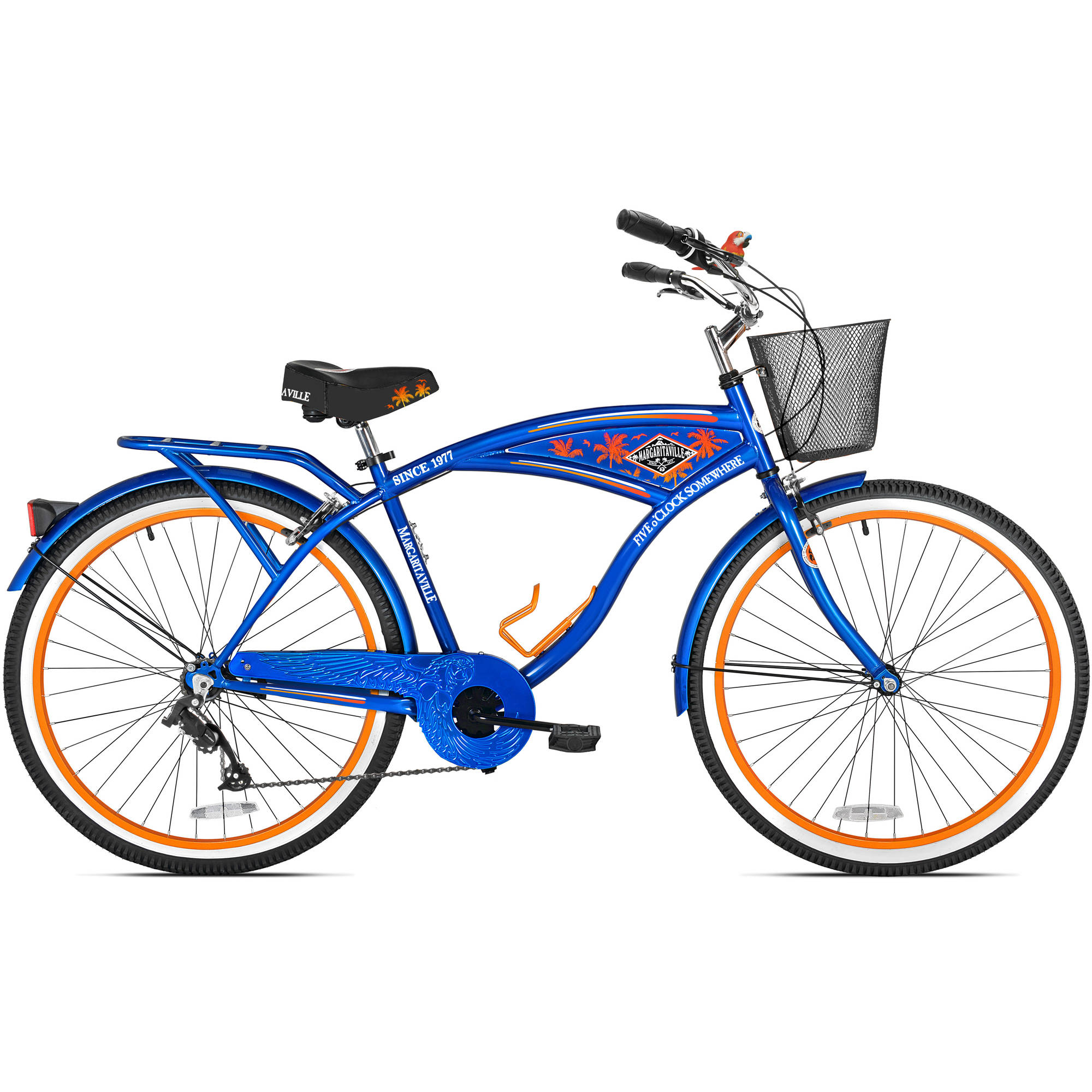 "26"" Men's Margaritaville Multi-Speed Cruiser Bike, Blue"