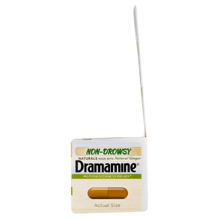 Dramamine Non-Drowsy Naturals Motion Sickness Relief, 18 Count