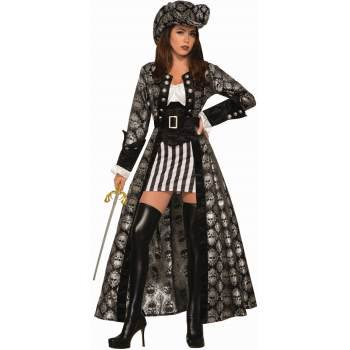 Burlesque Halloween Costumes For Women (Womens Captain Silva Blackskull Halloween)
