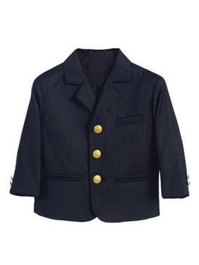 Boys Navy Golden Buttons Special Occasion Blazer 14