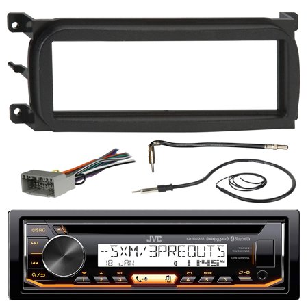 JVC KD-R99MBS Marine CD MP3 iPod Bluetooth Receiver Bundle Combo W/ Metra Dash Install Kit For 1998-Up Chrysler/Dodge/Jeep Vehicles + Radio Wiring Harness + Enrock AM/FM Antenna + Antenna Adapter