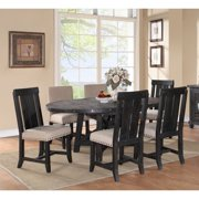 Modus Yosemite 7 Piece Oval Dining Table Set with Mixed Chairs - 4 Wood & 2 Upholstered