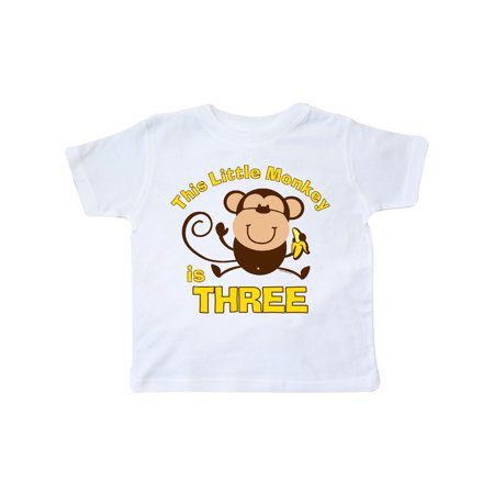 Little Monkey 3rd Birthday Boy Toddler - Little Boys Birthday