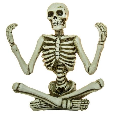 Zen Skeleton Figurines in Various Meditation Poses (Meditation B), Spooky yet serene skeleton figurines in 3 styles By Ganz (Pose N Stay Skeleton)