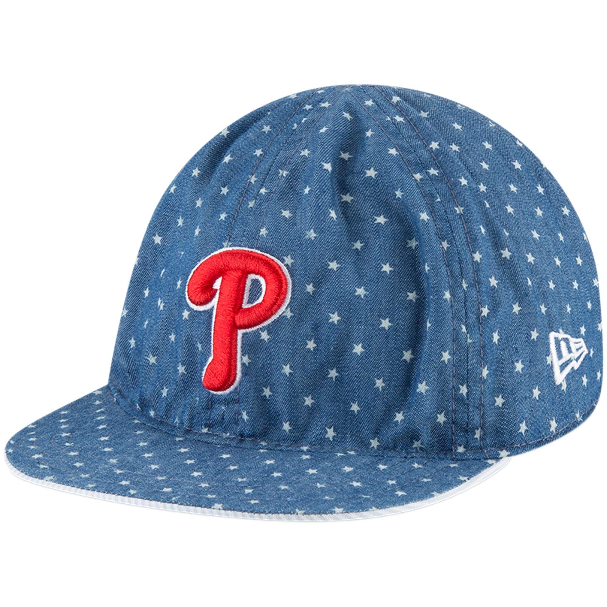 Philadelphia Phillies New Era Toddler Flip 9TWENTY Adjustable Hat - Denim - OSFA